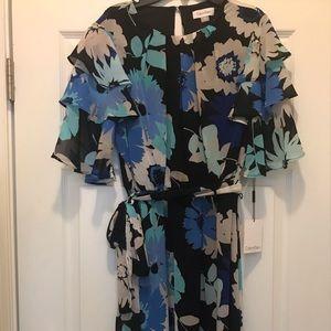 Calvin Klein floral dress NWT